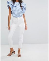 New Look - White Super Skinny Jeans - Lyst