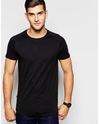 SELECTED | Black Elected Homme Longline T-shirt for Men | Lyst