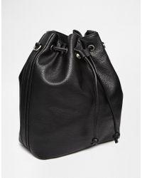 Fiorelli - Black Rossini Drawstring Backpack - Lyst