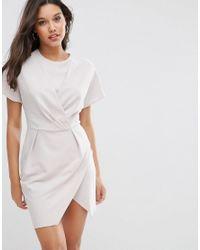 ASOS | Gray Kimono Mini Wrap Dress | Lyst