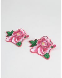 ASOS | Pack Of 2 Rose Badges - Pink | Lyst