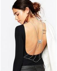 ASOS | Metallic Jewelled Back Body Chain | Lyst