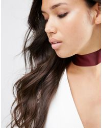 ASOS | Brown Wide Satin Choker Necklace | Lyst