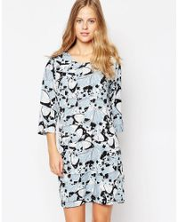Soaked In Luxury | Black Printed 3/4 Sleeve Dress | Lyst