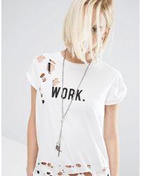 ASOS | Metallic Padlock Charm Necklace | Lyst