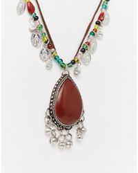 ASOS | Multicolor Festival Trinket Statement Necklace | Lyst