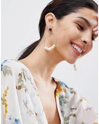Ashiana - White Hoop Earrings - Lyst