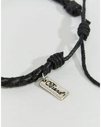 Classics 77 - Black Plaited Bracelet for Men - Lyst