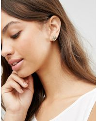 ASOS - Metallic Donut Stud Earrings - Lyst