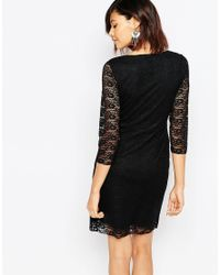 ONLY - 3/4 Sleeve Lace Dress - Black - Lyst