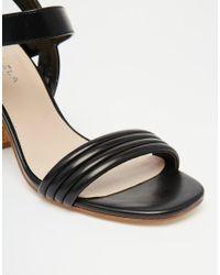 Carvela Kurt Geiger   Black Slick Cork Heeled Sandals   Lyst