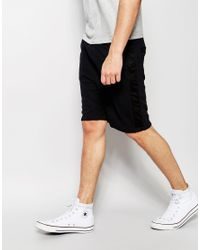 Another Influence - Perforated Jersey Shorts - Black for Men - Lyst