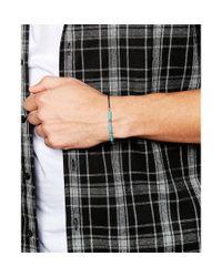 ASOS - Blue Beaded Bracelet In Turquoise for Men - Lyst