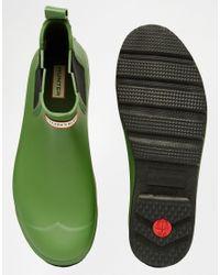 Hunter - Green Original Chelsea Gumboots for Men - Lyst