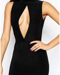 Missguided - Keyhole Slinky Maxi Dress - Black - Lyst