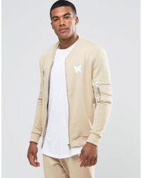 Good For Nothing Natural Jersey Bomber Jacket for men