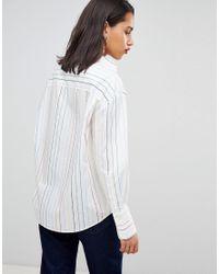 Sportmax Code - White Never To Late Rainbow Shirt - Lyst