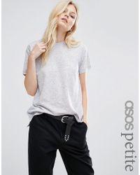 ASOS | Gray Linen Mix T-shirt | Lyst