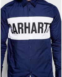 Carhartt WIP - Multicolor Shore Shirt With Pockets & Drawstring In Regular Fit for Men - Lyst