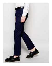 Heart & Dagger - Blue Wool Trousers In Slim Fit for Men - Lyst
