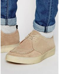 Fred Perry | Natural X George Cox Creeper Shoes for Men | Lyst