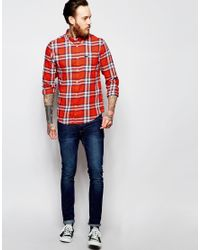 Lee Jeans | Multicolor Regular Fit Shirt Button Down Slub Twill Check In Red for Men | Lyst
