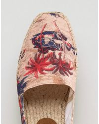 H by Hudson - Natural Exclusive For Asos Palm Print Espadrilles - Lyst