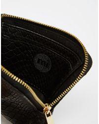 Mi-Pac - Black Python Zip Around Wallet - Lyst