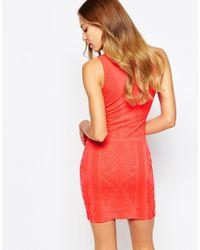 Love - Textured Bodycon Dress - Lyst