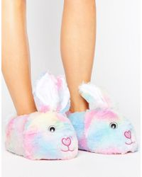 ASOS | Pink Nibbler Bunny Slippers | Lyst