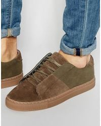 ASOS - Multicolor Lace Up Trainers In Khaki for Men - Lyst