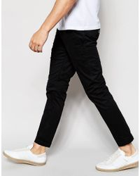 Dr. Denim - Slim Tapered Diggler Chino With Turn Up In Black for Men - Lyst