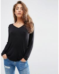 ASOS | Black The New Forever T-shirt With Long Sleeves And Dip Back | Lyst