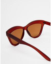 ToyShades | Brown Hooper Matte Cat Eye Sunglasses | Lyst