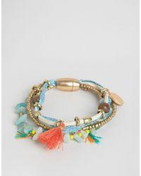 Nylon - Multicolor Multi Pack Of Festival Beaded Tassel Bracelets - Lyst
