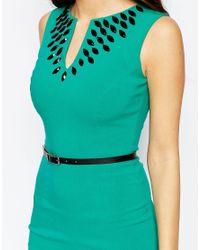 Hybrid - Multicolor Fleur Embellished Midi Dress With Belt - Lyst
