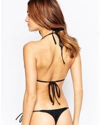 South Beach - Black Mix And Match Thong Bikini Bottom - Lyst