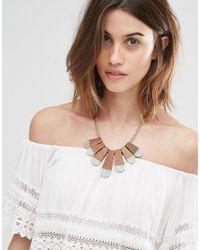 Pieces - Brown Tiffa Necklace - Lyst
