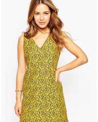 ASOS - Green Shift Dress In Lace - Lyst