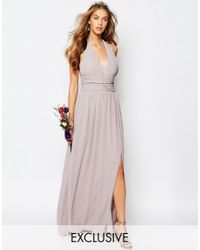 TFNC London | Multicolor Wedding Halter Chiffon Maxi Dress | Lyst