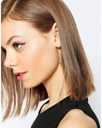 ASOS - Metallic Occasion Swing Tassel Earrings - Lyst