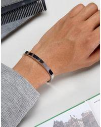 Icon Brand - Metallic Premium Manta Cuff Bangle Bracelet In Silver for Men - Lyst