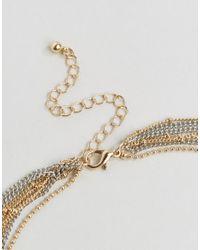 ASOS - Metallic Extreme Multirow Ball Chain Choker Necklace - Lyst