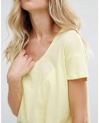 Mango - Yellow Scoop T-shirt - Lyst