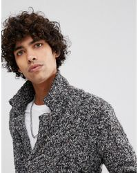 ASOS DESIGN - Gray Longline Heavyweight Knitted Duster Cardigan In Charcoal for Men - Lyst