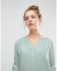 B.Young - Green Collarless 3/4 Sleeve Shirt - Lyst