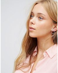 Pilgrim - Metallic Silver Plated Hoop Stud Earrings - Lyst