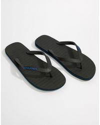 24287ebab95c83 Lyst - Jack   Jones Flip Flops in Black