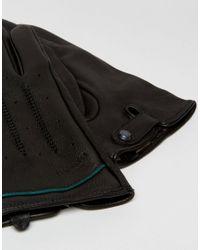 Ted Baker - Black Gloves In Leather for Men - Lyst