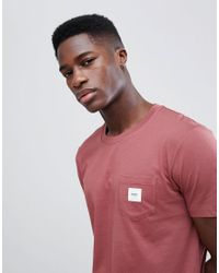 Esprit - T-shirt In Dusty Pink With Pocket for Men - Lyst